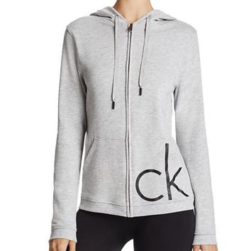 calvin klein fashion women zip cardigan jacket coat-2