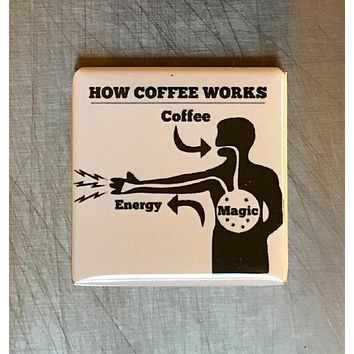 How Coffee Works Magnet