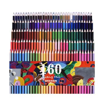 Professional 160 Colored Pencils Lapis De Cor Professionals Artist Painting Oil Color Pencil For Drawing Sketch art set Supplies