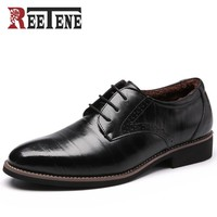 Oxford Shoes For Men Genuine Leather Men Shoes For Wedding Shoes Dress Men Leather Shoes Men Winter Flats