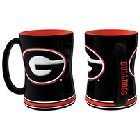 Georgia Bulldogs NCAA Coffee Mug - 15oz Sculpted (Single Mug)