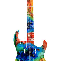 Colorful Electric Guitar 2 - Abstract Art By Sharon Cummings