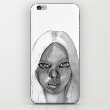 Fashion Illustration Portrait iPhone & iPod Skin by Ideasinthings