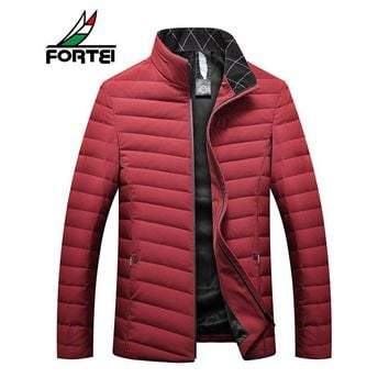 Winter Jacket Men Couples Coats 90% Duck Down Stand-Collar Solid Parkas Male Feather Jackets Down Jacket Female Plus Size 117