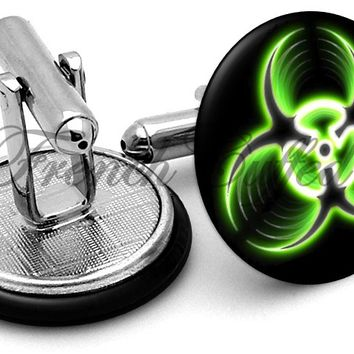 Biohazard Warning Cufflinks