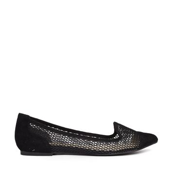 ALDO Nerawiel Black Mesh Slipper Flat Shoes