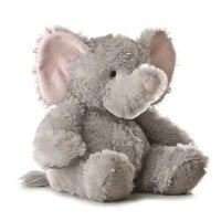 Aurora Plush 12 inches Elephant Tubbie Wubbie (Light Grey)