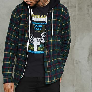 Slim-Fit Plaid Flannel Shirt