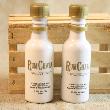 Salt & Pepper Shaker from Upcycled RumChata Mini Liquor Bottles