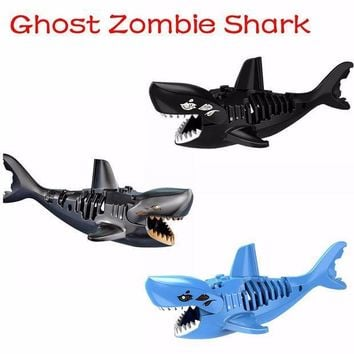 Ghost Zombie Shark Action Bricks Single Sale Pirates Of The Caribbean Building Bricks Toys For Children Pg1008