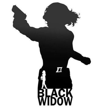 Black Widow Silhouette Vinyl Decal Sticker