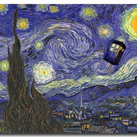 Doctor Who 9 TV Series Art Silk Poster Print 13x18 24x32 inches Pictures For Living Room Decor Starry Night 034