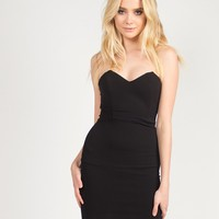 Sweetheart Wired Tube Dress - Black