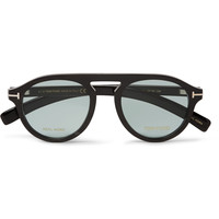 Tom Ford - Round-Frame Horn Optical Glasses