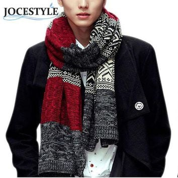 CREYU3C Men's Autumn Winter Scarves New Fashion Scarf Men Women Unisex Warm Wool Scarves Wrap Male Luxury Knitted Cashmere Scarf