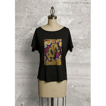 COMIC POP ART KNIT TEE