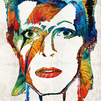 David Bowie Art Tribute By Sharon Cummings