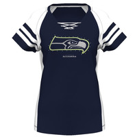 Seattle Seahawks Majestic Women's Draft Me Plus Sizes T-Shirt – College Navy