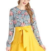 A-line Musee Matisse Skirt in Yellow