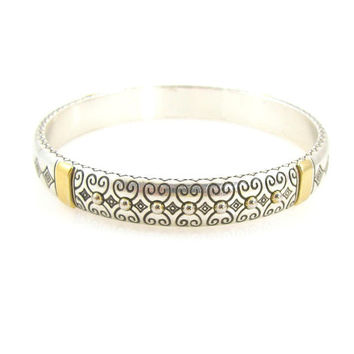 Vintage Brighton Sterling Silver Plated Bangle Bracelet