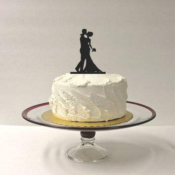 Silhouette Cake Topper Bride and Groom Silhouette Wedding Cake Topper Bride and Groom Cake Topper