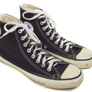 DCCK1IN vintage 90s converse all star chuck taylor black high tops sneakers shoes sz 9
