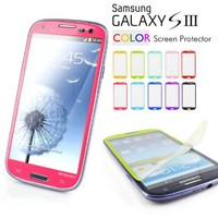 Galaxy S3 Screen Protector, Caseology [HD Clarity] Samsung Galaxy S3 Screen Protector [2-Pack] [Hot Pink] [3-Month Warranty] Color Film [Crystal Clear] Front Screen Protection Galaxy S3 Screen Protector (for Samsung Galaxy S3 Verizon, AT&T Sprint, T-mobile