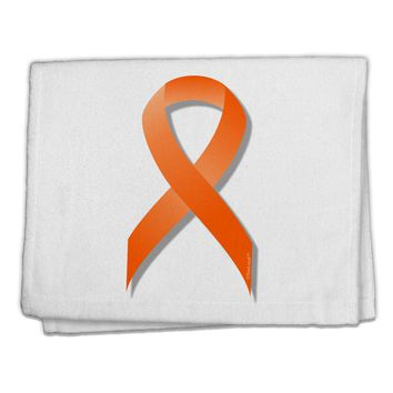 "Leukemia Awareness Ribbon - Orange 11""x18"" Dish Fingertip Towel"