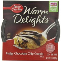 Betty Crocker Warm Delights, Fudgy Chocolate Chip Cookie, 2.9 oz, 8 Pack