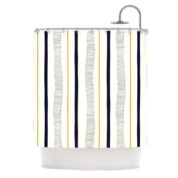 "Laurie Baars ""Textured Stripes"" Abstract Lines Shower Curtain"