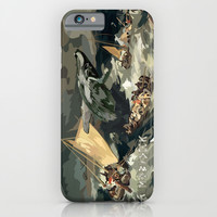 Fisherman Vs Whale Moby dick Digital art painting iPhone 4 4s 5 5c 6, pillow case, mugs and tshirt iPhone & iPod Case by Three Second