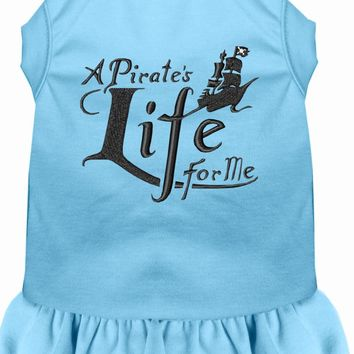 A Pirate's Life Embroidered Dog Dress Baby Blue Med (12)