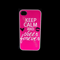iphone 4 Case iPhone 4s case Keep calm cheer forever by KrezyCases