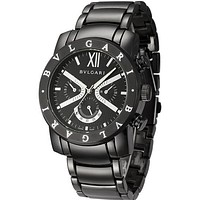 Bvlgari men and women fashion watch quartz watch F Black