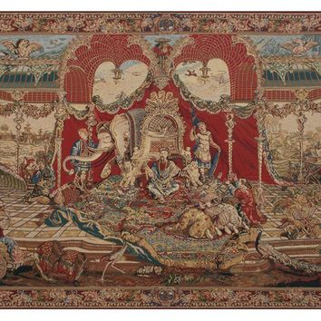 Audience of the Prince Tapestry Wall Art Hanging
