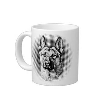 German Shepherd dog Extra Large Mugs