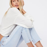 Free People Levi's 501 Cropped Taper Jeans