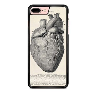 Heart Anatomy Vintage iPhone 8 Plus Case