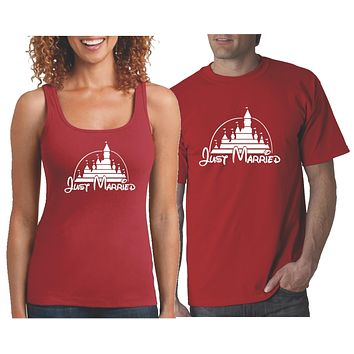 Matching Couple Just Married  Shirts
