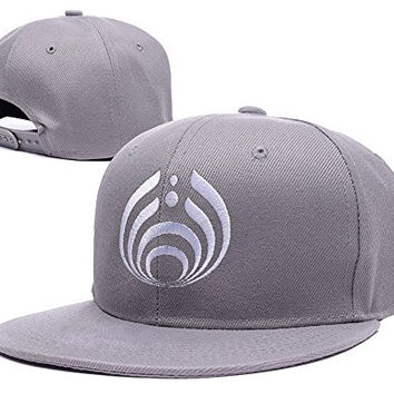 YUDUODUO Bassnectar Logo Adjustable Snapback Embroidery Hats Caps - Grey