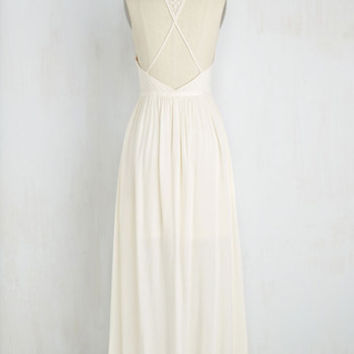 Lithe-Minded Dress in Ivory