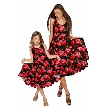 True Passion Vizcaya Fit & Flare Midi Mother Daughter Dress