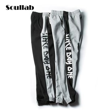 SOULLAB  design over size 5XL mens boys guys bottoms hip hop jogger pants cotton trousers casual fashion whole swag sweatpants