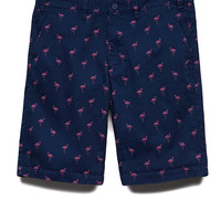 Flamingo Print Shorts