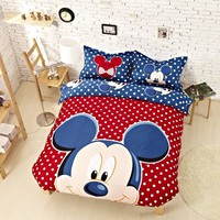 Mickey Mouse Comforter Set Twin Queen King Size Bedding Duvet Cover Set