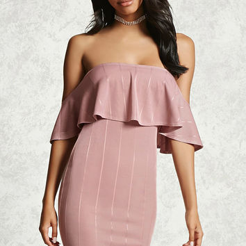 Draped Flounce Bodycon Dress