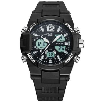 New Men Digital Analog Dual Sports Watch