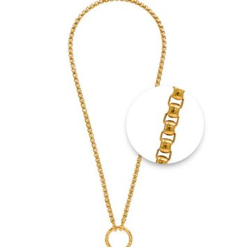 DCCKAB3 Nikki Lissoni Gold Plated 48cm Chain Necklace O-Ring closure N1013G48