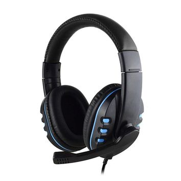 3.5mm Gaming Headset MIC Red LED Headphones for PC Laptop PS4 Xbox One 360 Blue