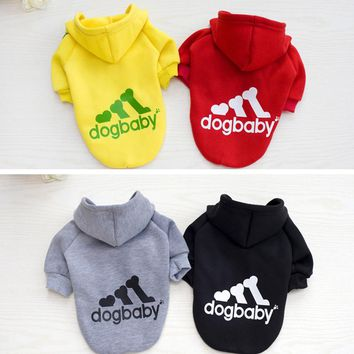 Pet Dog Clothes Coat Puppy Hoodies Vest Cute Clothing for Small Dog Sportswear Polo Shirts Cat Outfit Spring Pet Apparel 25